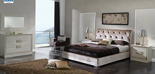 ESF Dupen Miriam Formal Sandy Queen Storage Bedroom Set 4Pcs Made In Spain