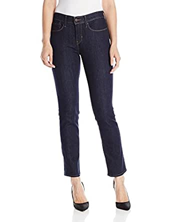 Levi's Women's 525 Perfect Waist Straight Leg Jean, Darkest Ace, 27/4 Short