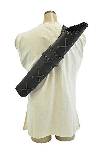 [Lace Quiver (Black) - LARP Archery] (Larp Archery Costumes)