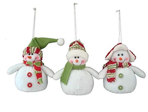 HOT Sale!! BingYELH Christmas Snowmen Decorations,3PCS Christmas Snowmen Xmas Tree Hanging Decor for Wedding Home Party Decor (White)