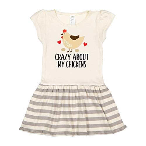 inktastic Cute Chicken Farming Toddler Dress