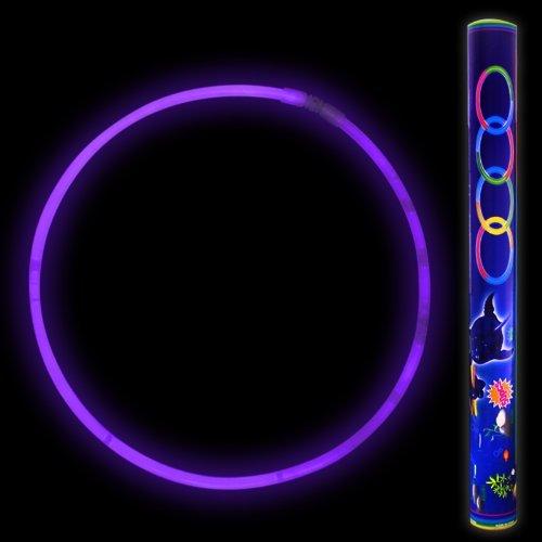 Fun Central J0, 50 Pcs 22 Inches Purple Premium Glow Stick Necklaces, Glowing Necklaces, Glow Stick Necklace for Kids, Glow in the Dark Necklace for Concerts, Glow in the Dark Party ()
