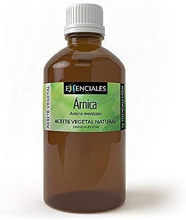 Essenciales - Aceite Vegetal de Árnica, 100% Puro, 200 ml | Aceite Vegetal Arnica Montana