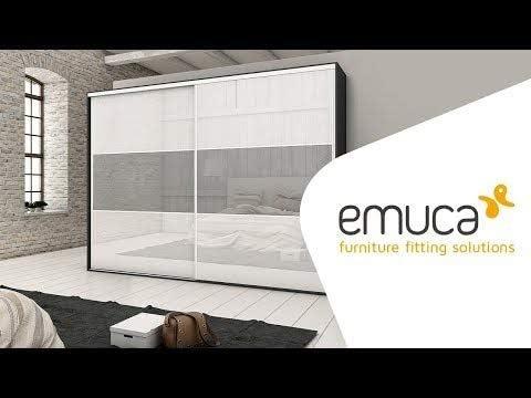EMUCA Sistema para Puertas correderas, Aluminio,Acero y plástico, Anodizado Mate, 11,5x13,5x240: Amazon.es: Hogar