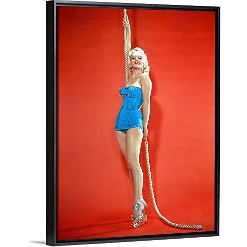 Marilyn Monroe - Vintage Publicity Photo Black Floating Frame Canvas Art, 32