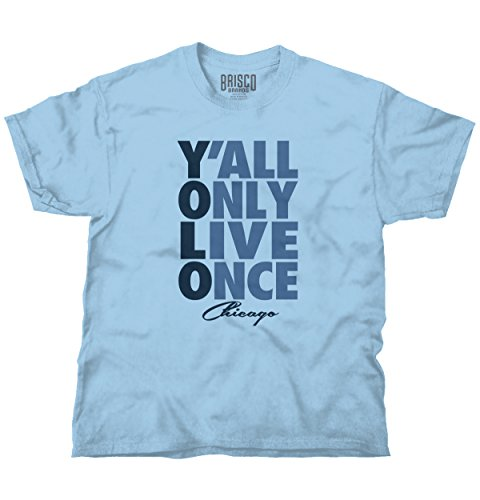 Brisco Brands YOLO You Only Live Once Chicago, IL Gift Funny Picture Shirts T Shirt -