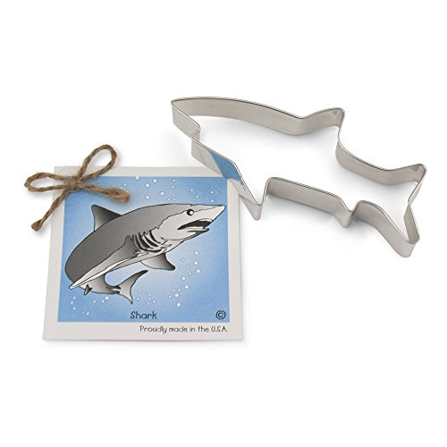 Shark Cookie and Fondant Cutter - Ann Clark - 5.8 Inches - US Tin Plated -