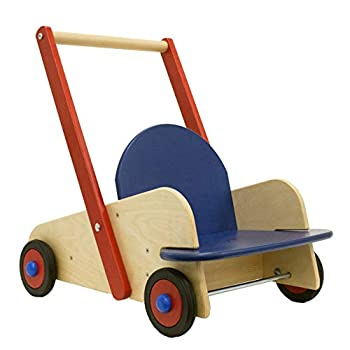 Image of Baby HABA Walker Wagon - First Push Toy with Seat & Storage for 10 Months and Up
