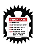 Shop Rate Dollar Prices Funny Poster Wall Hanging Print Wheel Cog Gear Sign Large 12 x 18