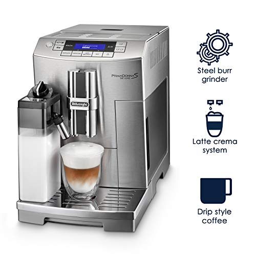 DeLonghi America ECAM28465M Prima Donna Fully Automatic Espresso Machine with Lattecrema System