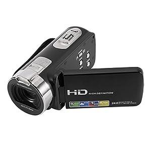 Caméscope Numerique, Full HD Caméscope Caméra Mini DV, 1920*1080P Vidéo Numérique DV Max 24.0 Megapixels, 3.0 Pouces TFT-LCD 16x Zoom Touch Screen Face Capture Infrarouge Vision Nocturne Microphone Interne (Supports 270°Rotation) Caméra vidéo Appareil Photo Numérique Noir (25)