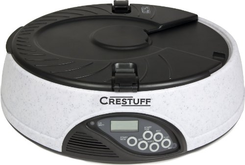 Crestuff 6 Meal Automatic Electronic Dog and Cat Pet Feeder with LCD Screen and Meal Time Message Recorder, My Pet Supplies