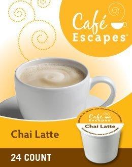 CHAI LATTE TEA K CUP 144 COUNT by CAFE ESCAPES