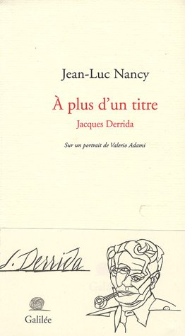 A plus d'un titre : Jacques Derrida for sale  Delivered anywhere in USA