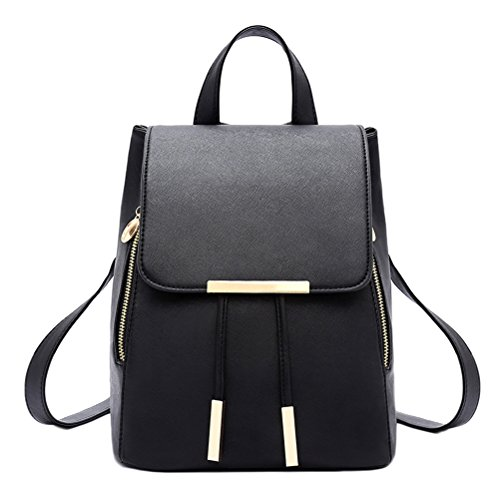 Bag Dark Blue Girls Ladies Black Shoulder Women Travel Bag Backpack PU Leather SxqR8z