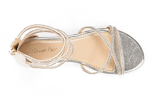 fe6e9da7fcb DREAM PAIRS Women s Weitz Ankle Strap Rhinestones Low Wedge Sandals - Buy  Online in UAE.