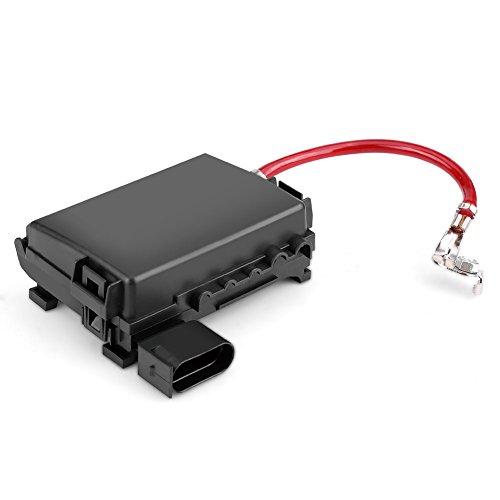Keenso - Caja de fusibles para batería de coche con fusible de cuchilla y terminal para VW Beetle Audi, A3 Seat Leon Toledo...