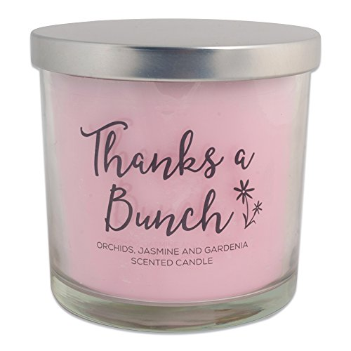 Home Traditions 3-Wick Evenly Burning Highly Scented 4x4 Large Jar Candle with 45+ Hour Burn Time (14.5 Oz) - Orchid, Jasmine, and Gardenia Scent