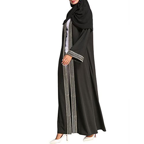 Arab Outwear Abaya Cocktail Maxi Muslims Zhuhaitf Long Black Tunic Islamic Gown for Dress Breathable Party Sxwfq0xEnT