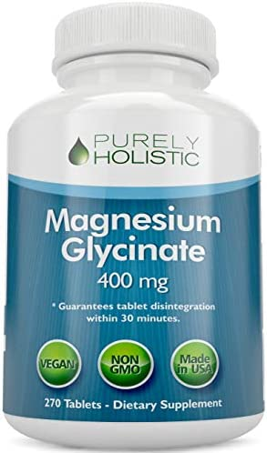 Magnesium Glycinate 400mg - 100% More 270 Magnesium Tablets (not Capsules), Highly Bioavailable, Non Buffered, Vegan and Vegetarian - Improved Sleep, Stress Relief & Cramp Defense 2