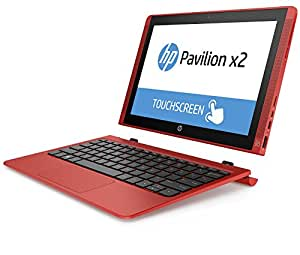"HP Pavilion X2 10-N002NS - Convertible de 10.1"" (Intel Atom Z3736F, 2 GB RAM, eMMC 32 GB SSD, Intel HD, Windows 8.1 ), rojo atardecer - Teclado QWERTY Español"