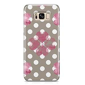 Samsung S8 Case Pretty Heart Love Pattern For Girls Valentine Sleek Profile Metal Inforced Light Weight Samsung S8 Cover Wrap Around 165