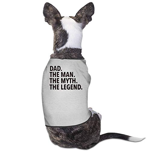 COLLJL8 The Man The Myth The Legend Pets Clothing Costumes Puppy Dog Clothes Vest Tee Shirts