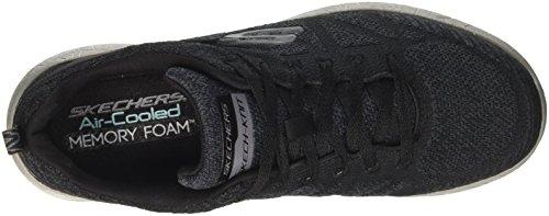 Skechers Burst-Athis, Zapatillas para Hombre Negro (BKCC)