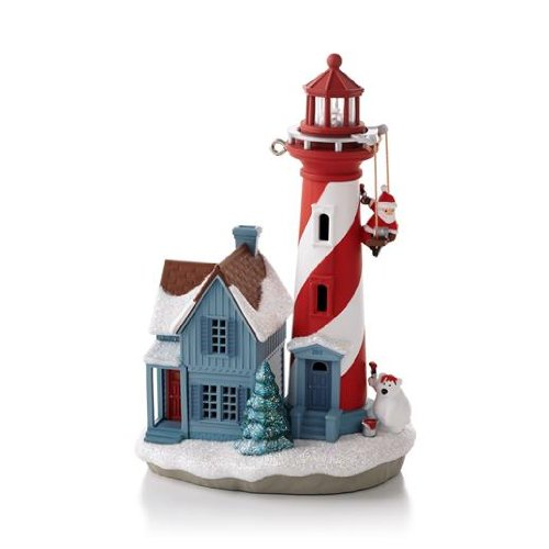 Holiday lighthouse series hallmark ornament