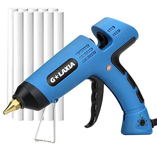Hot Melt Gule Gun, GALAXIA 100W Heavy Duty Hot Glue Gun with 10pcs Glue Sticks and Temperature...