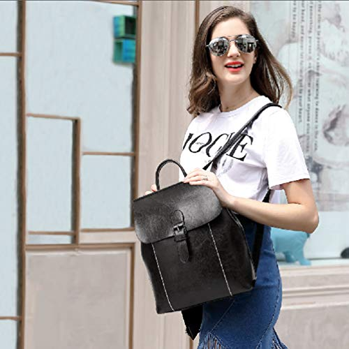 Crossbody Girls Convertible School Fashion Purse Black Pu Bag For Backpack Women Ladies Casual Leather Shoulder 18xTxO