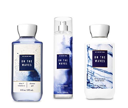 (Bath and Body Works - Signature Collection - On the Waves - Shower Gel, Fine Fragrance Mist & Super Smooth Body Lotion - Daily Trio - Summer 2019)