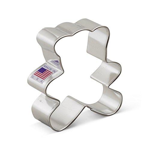 Ann Clark Cookie Cutters - Teddy Bear Cookie Cutter - 3-inch - USA Made Steel ()