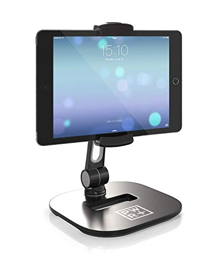 Pwr Tablet Stand, Tablet Mount Holder for Tablets Tabs Cell-Phones iPhone Samsung Huawei Fire HD]()