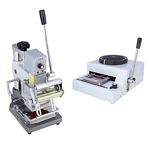 SUNCOO 72 Character Manual Embosser Machine and Hot Foil Stamping Printing Machine PVC Card by SUNCOO