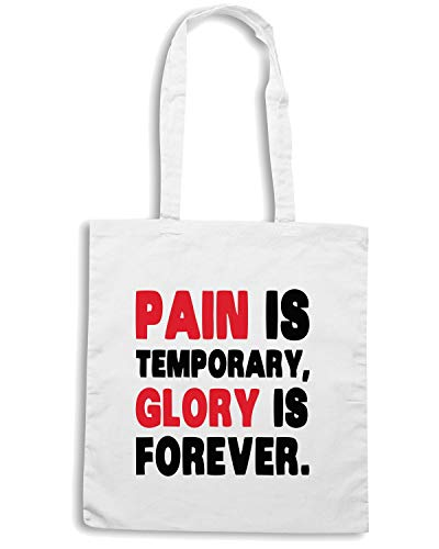 TEMPORARY FOREVER Borsa Shopper PAIN Bianca IS IS GLORY TM0504 SSOH4wXq