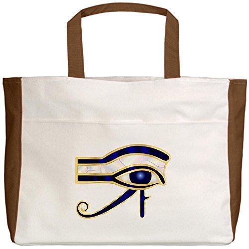 truly-teague-beach-tote-2-sided-egyptian-eye-of-horus-or-ra-mocha