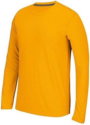 Adidas Men's Climalite Ultimate Long Sleeve Tee, Yellow,XL