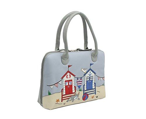 Grab BEAU Colección Mala de cuero bolsa de hombro de la correa de -Detachable 7108_89 gris gris