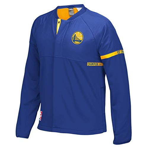 Golden State Warriors Adidas 2016 NBA Men's On-Court Warm-Up Full Zip ()