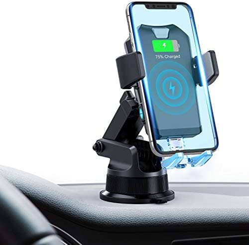 FITFIRST Wireless Car Charger Mount, Auto Clamping 7.5W 10W Fast Charging Qi Car Phone Holder Air Vent Dashboard Compatible iPhone Xs Xs Max XR X 8 8 Plus, Samsung Galaxy S10 S10 S9 S9 S8 S8