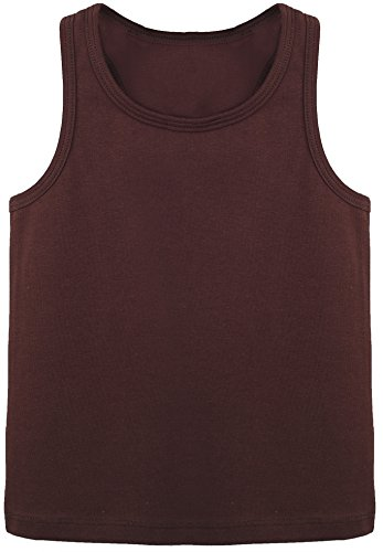 Lilax Girls' Racerback Tank Top 3T Brown (Top Shirt Autumn Brown)