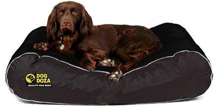 Dog Doza - Cama Impermeable para Perro con Borde de Estilo Activo, Durable, Mediana a Grande, Color Negro: Amazon.es: Productos para mascotas