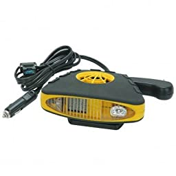 12 Volt Rubberized Electric Car Heater & Defroster with Fan
