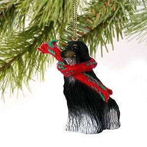 Afghan Miniature Dog Ornament - Black & White 47