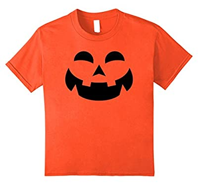 Orange Pumpkin Face T Shirt | Funny Halloween Costume Shirt