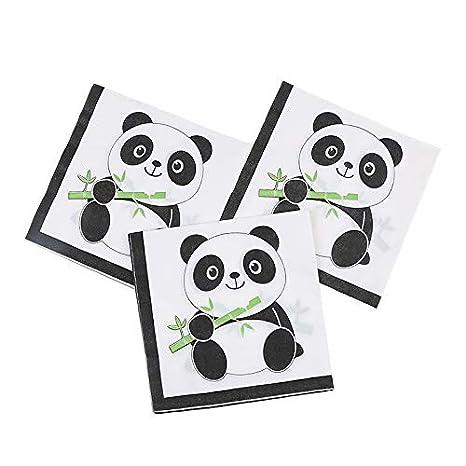 Amazon.com: Paquete de 20 servilletas desechables con diseño ...