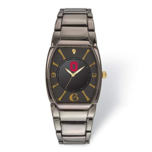 Jewels By Lux LogoArt Ohio State University Executive Black-Plated Watch