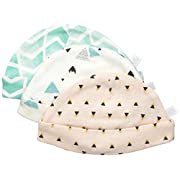 Rosie Pope Baby 3-Pack This Way For Adventure Caps, Egret, 3-6 Months