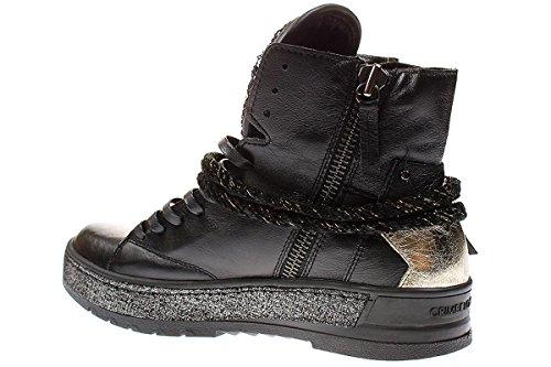 Londen Misdaad 25901a17 - Damesschoenen Sneaker Snoeren - Zwart, Maat: 40 Eu